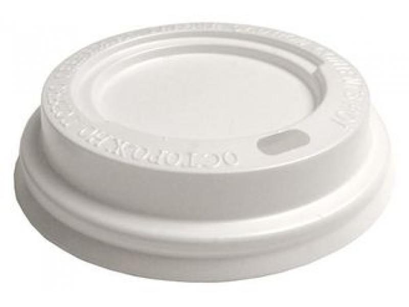 Крышка для горячих напитков 80 мм (белая)