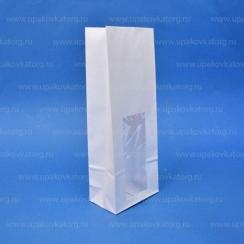 Пакет для чая с окном белый